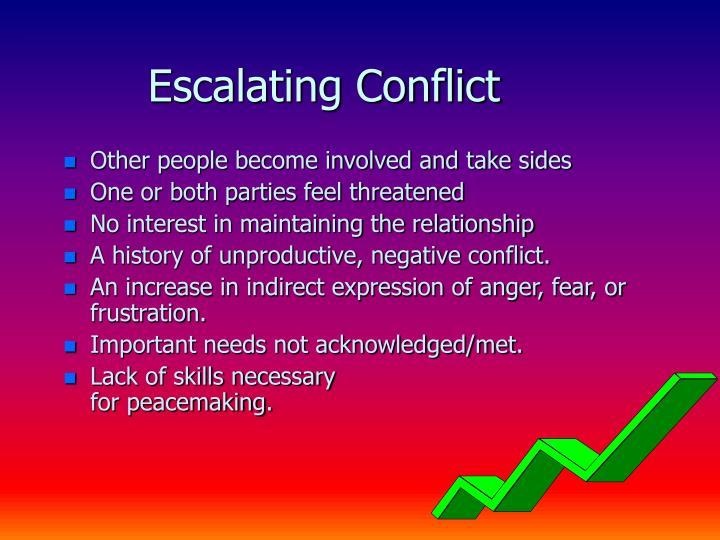 Escalating Conflict