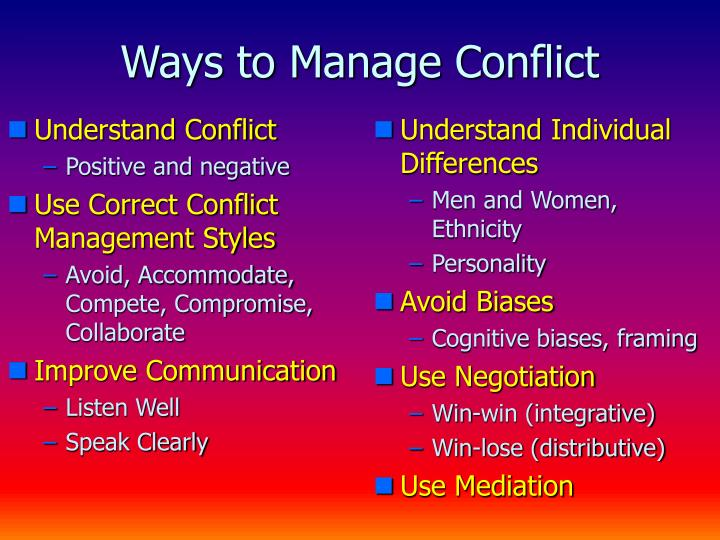 Understand Conflict