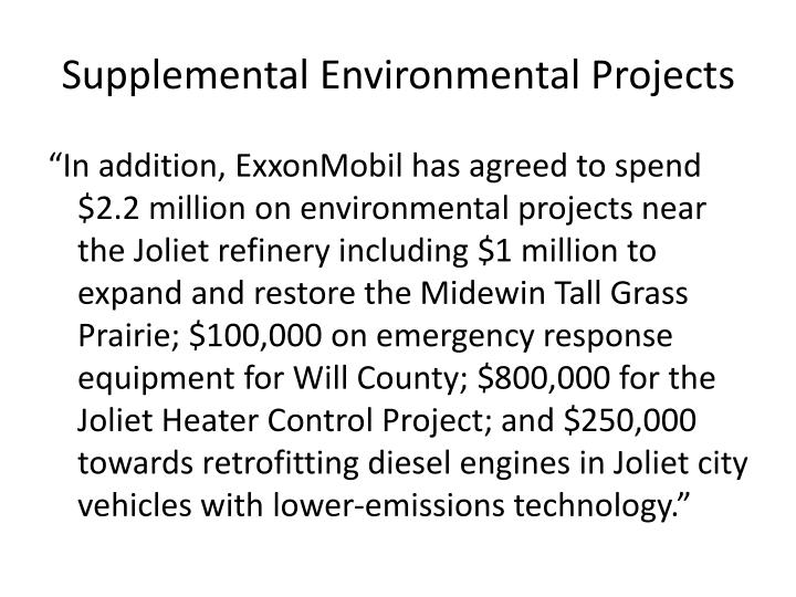 Supplemental Environmental Projects