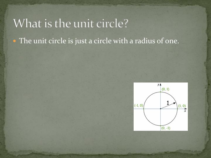 What is the unit circle?