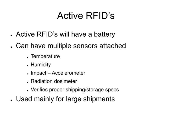 Active RFID's
