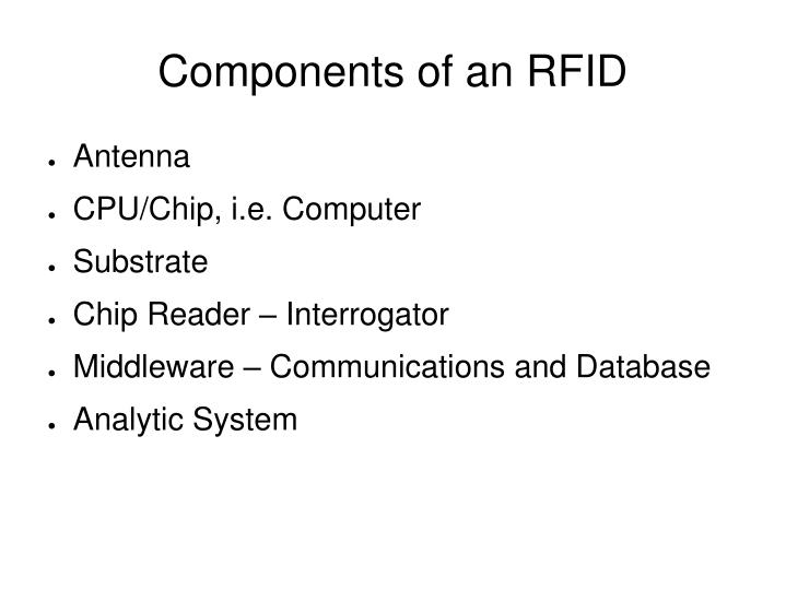 Components of an RFID
