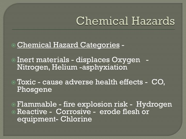 Chemical Hazards