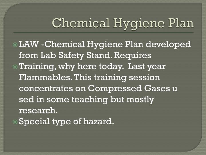 Chemical Hygiene Plan