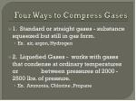 four ways to compress gases1