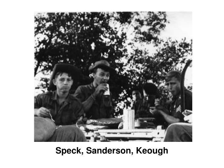 Speck, Sanderson, Keough