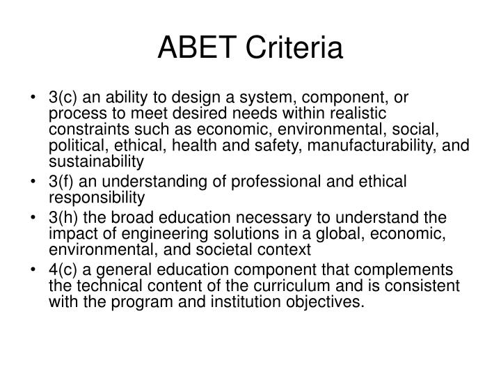 ABET Criteria