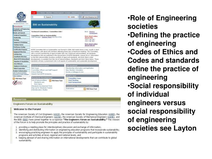 Role of Engineering societies