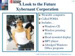 a look to the future xybernaut corporation