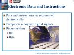 electronic data and instructions