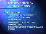 environmental provisions