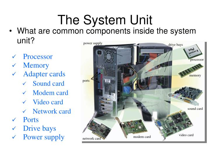 The system unit1