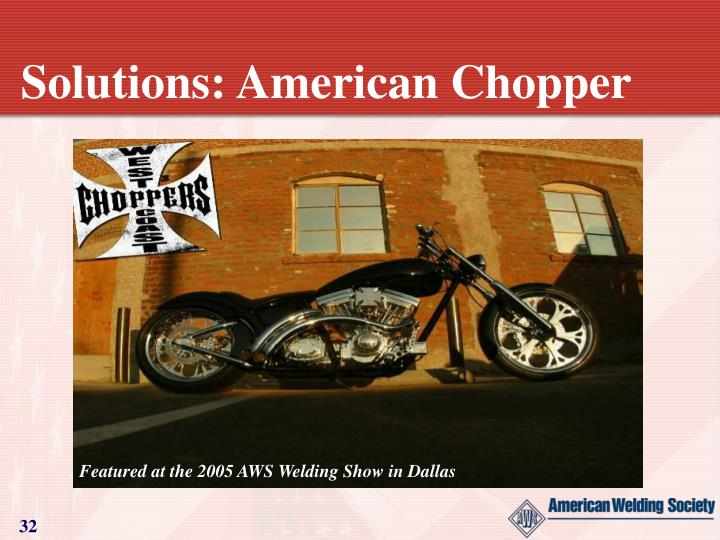 Solutions: American Chopper
