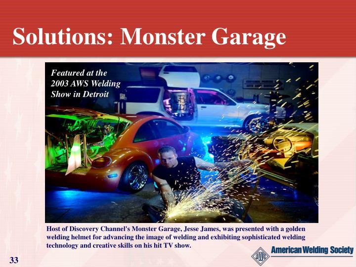 Solutions: Monster Garage