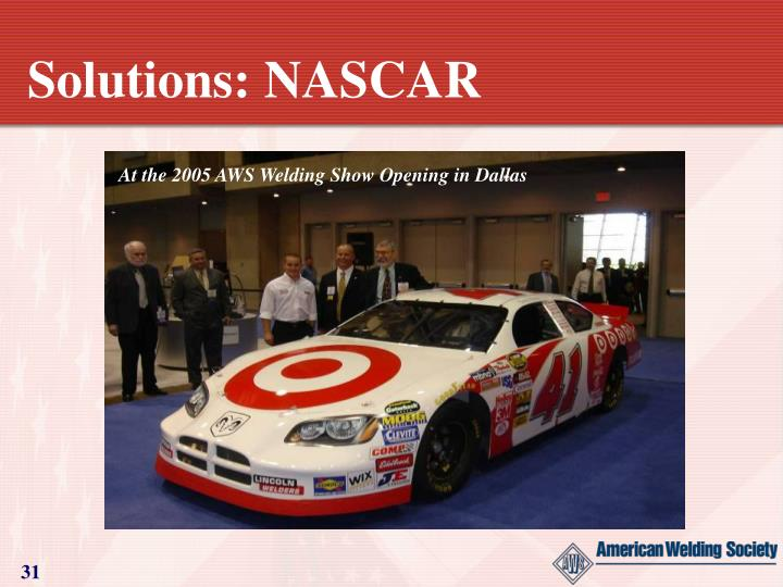 Solutions: NASCAR