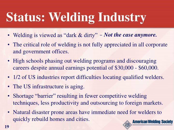 Status: Welding Industry