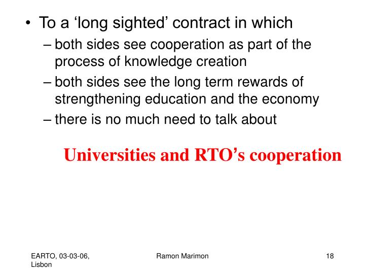 Universities and RTO