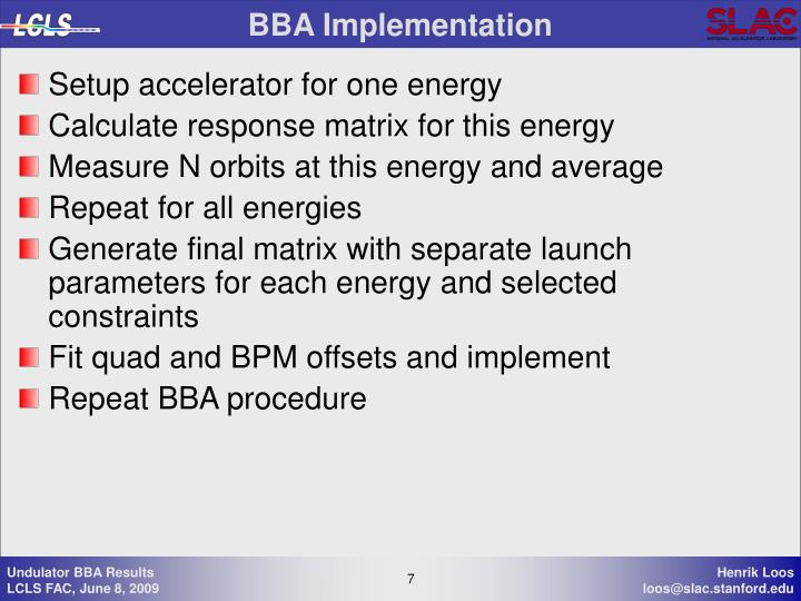 BBA Implementation