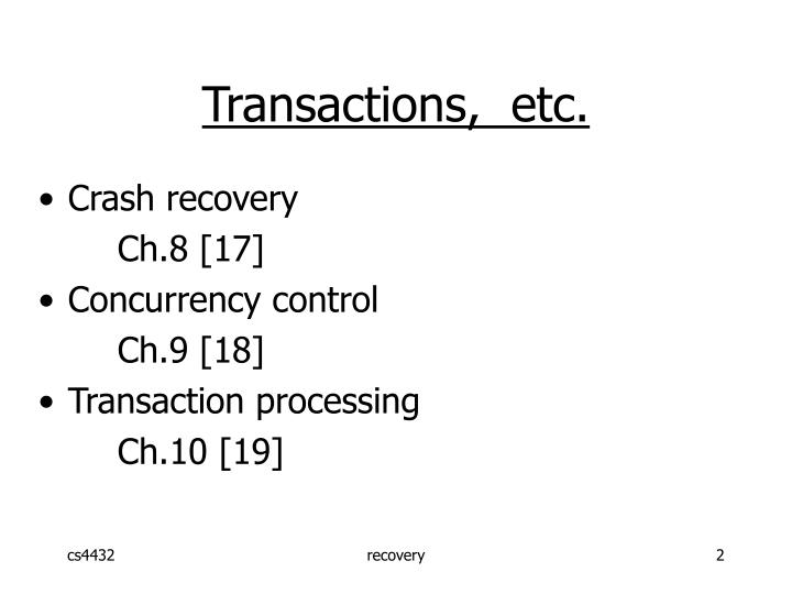 Transactions,  etc.