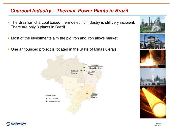 Charcoal Industry – Thermal  Power Plants in Brazil