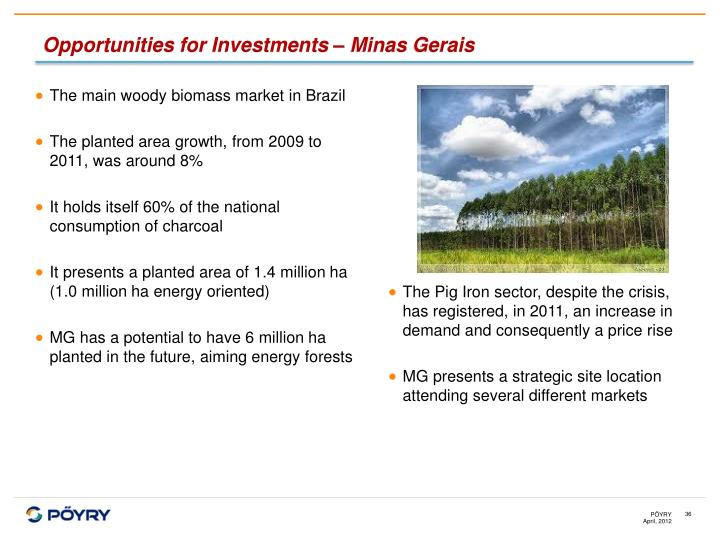 Opportunities for Investments – Minas