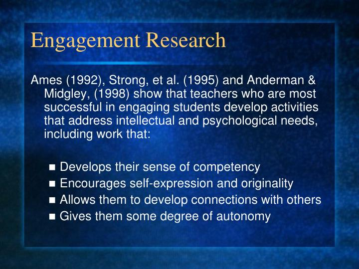 Engagement Research