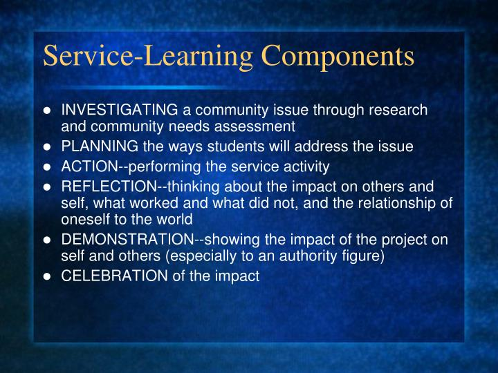 Service-Learning Components