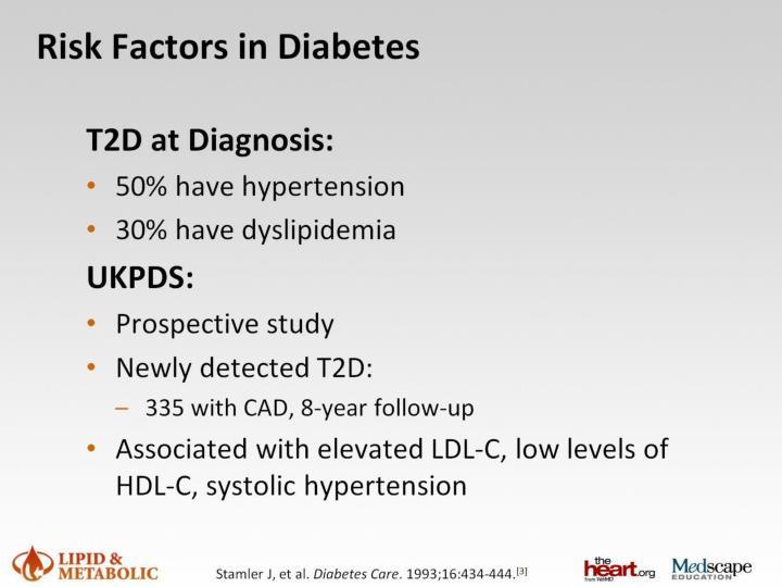 Risk Factors in Diabetes