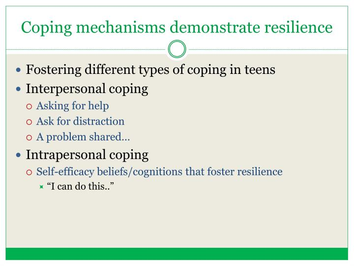 coping mechanisms of students staying in The coping mechanisms is one of the most popular assignments among students in order to refine and combine multiple coping concepts from both the icu-stay and.