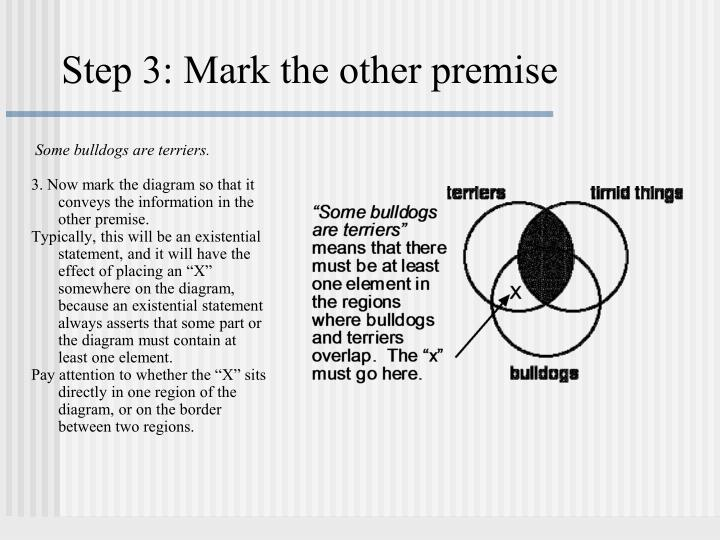 Step 3: Mark the other premise