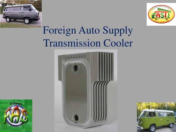Foreign auto supply transmission cooler