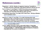 references contd