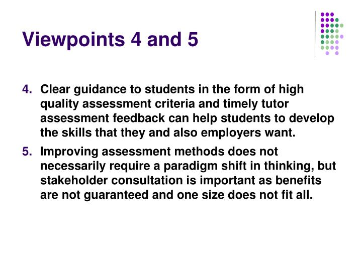 Viewpoints 4 and 5