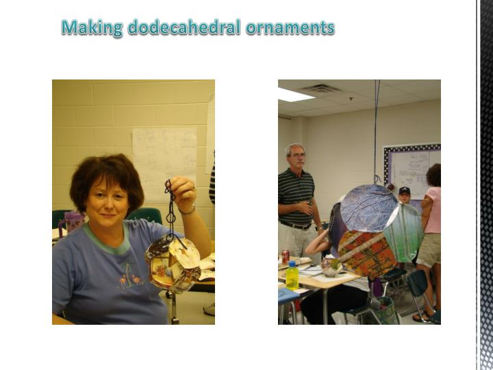 Making dodecahedral ornaments