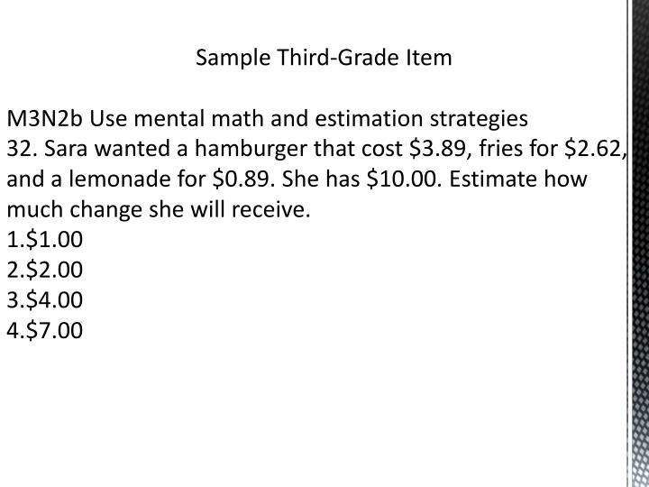 Sample Third-Grade Item