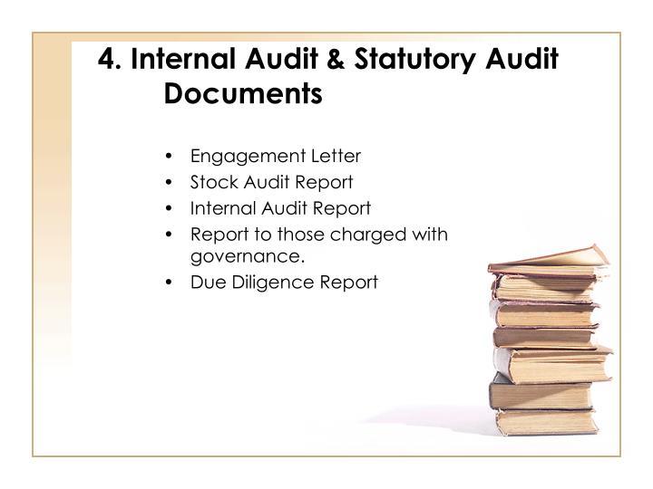 4. Internal Audit & Statutory Audit Documents