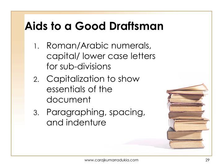 Aids to a Good Draftsman