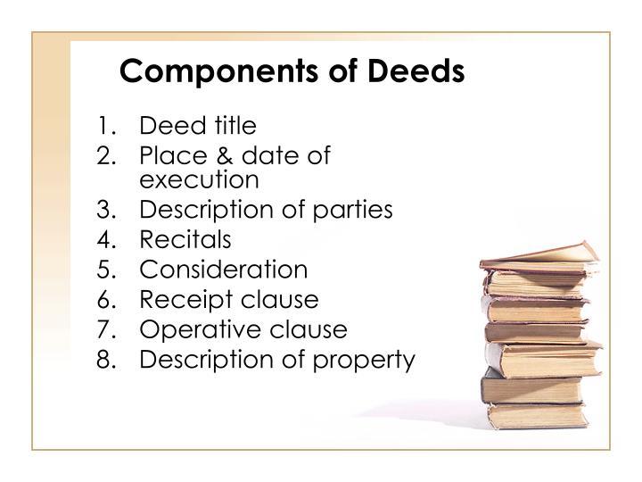 Components of Deeds