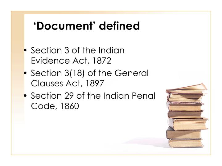 Document defined