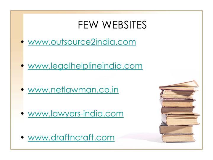 FEW WEBSITES