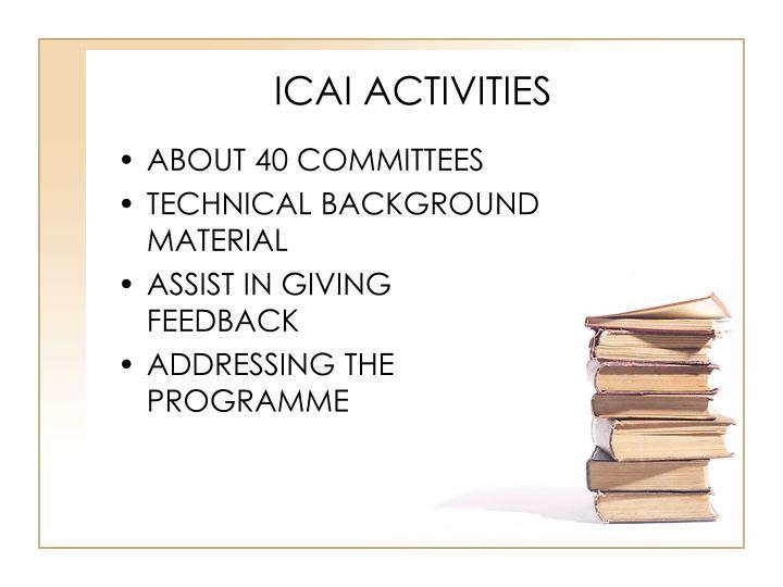 ICAI ACTIVITIES