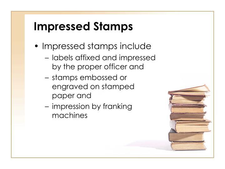 Impressed Stamps