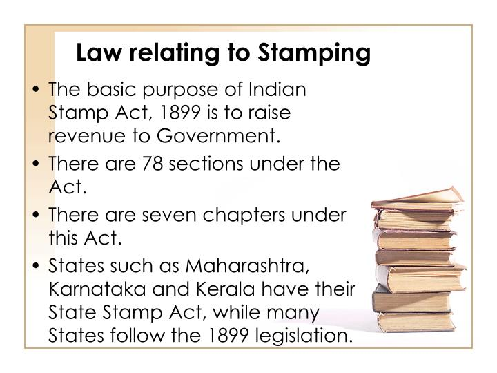 Law relating to Stamping