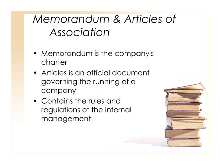 Memorandum & Articles of Association