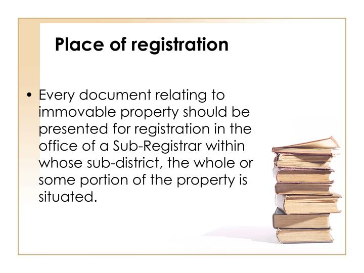 Place of registration