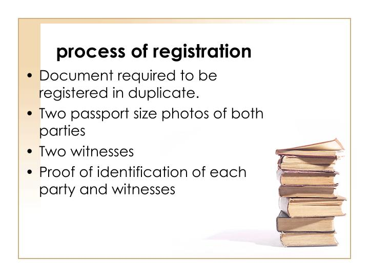process of registration