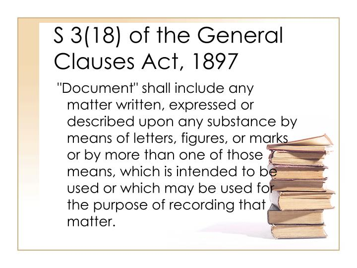 S 3(18) of the General Clauses Act, 1897