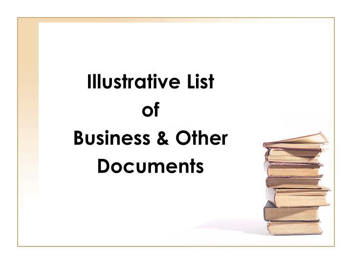 Illustrative List