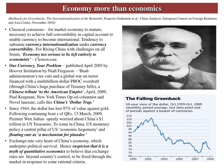 Economy more than economics