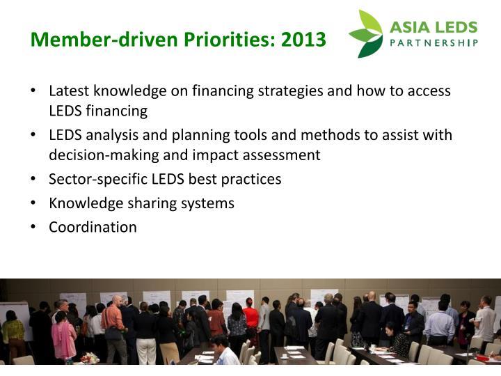 Member-driven Priorities: 2013